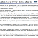 A Checklist of When to Sell Stocks